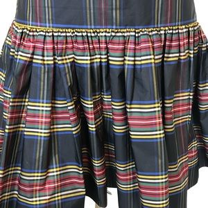 J. Crew Skirts - J Crew Plaid Skirt 4 Taffeta Stewart Tartan Black